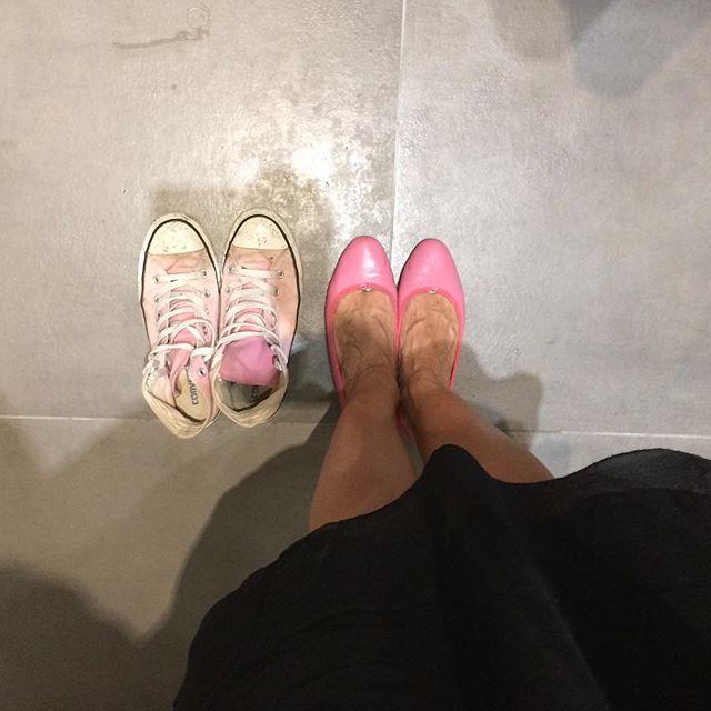 ballerine rosa dettaglio pink colorato di pink coordinamento