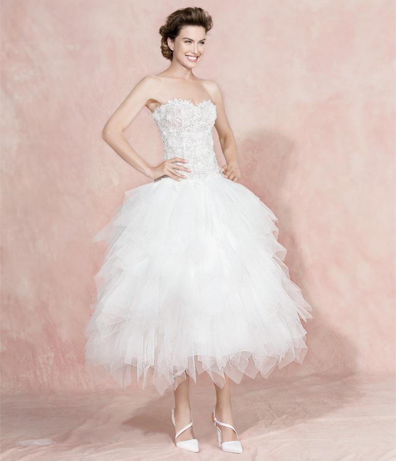 abito da sposa corto carlo pignatelli