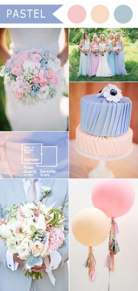 wedding palette rose quartz e serenity
