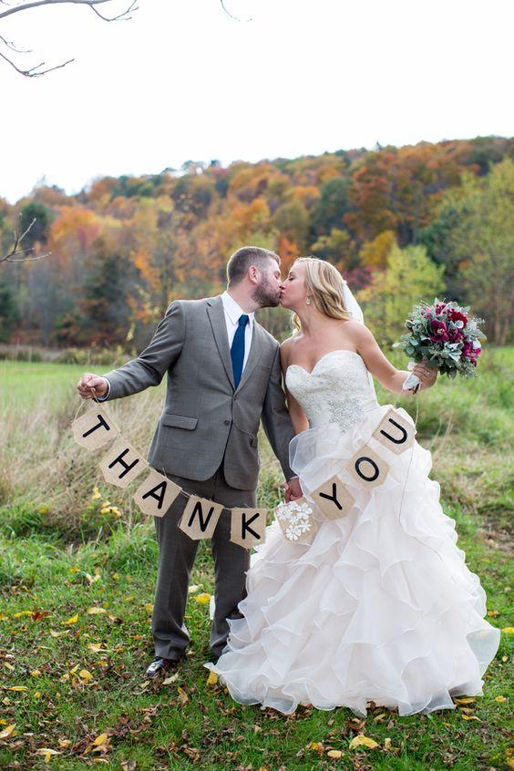 thank you banner per matrimonio