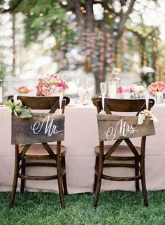 rustic wedding cartelli mr e mrs