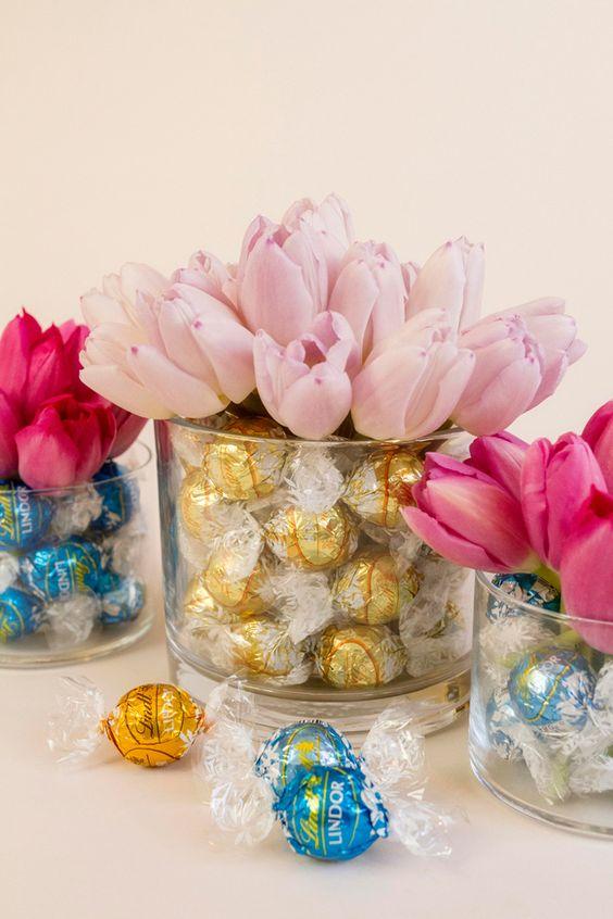 centrotavola per matrimonio tema cioccolato