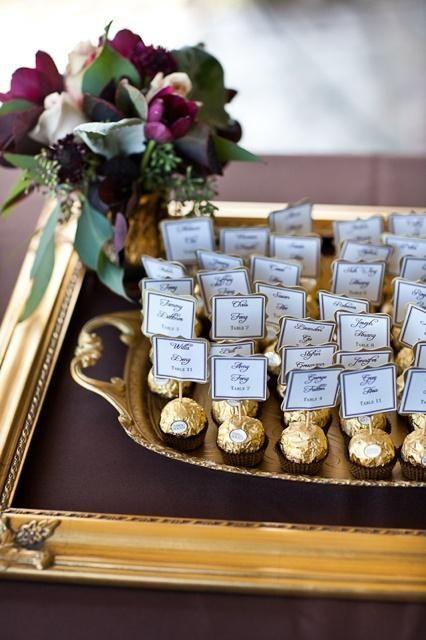 escort card tableau mariage tema cioccolato