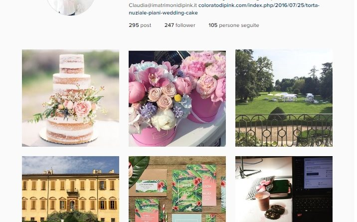 social network account instagram wedding planner