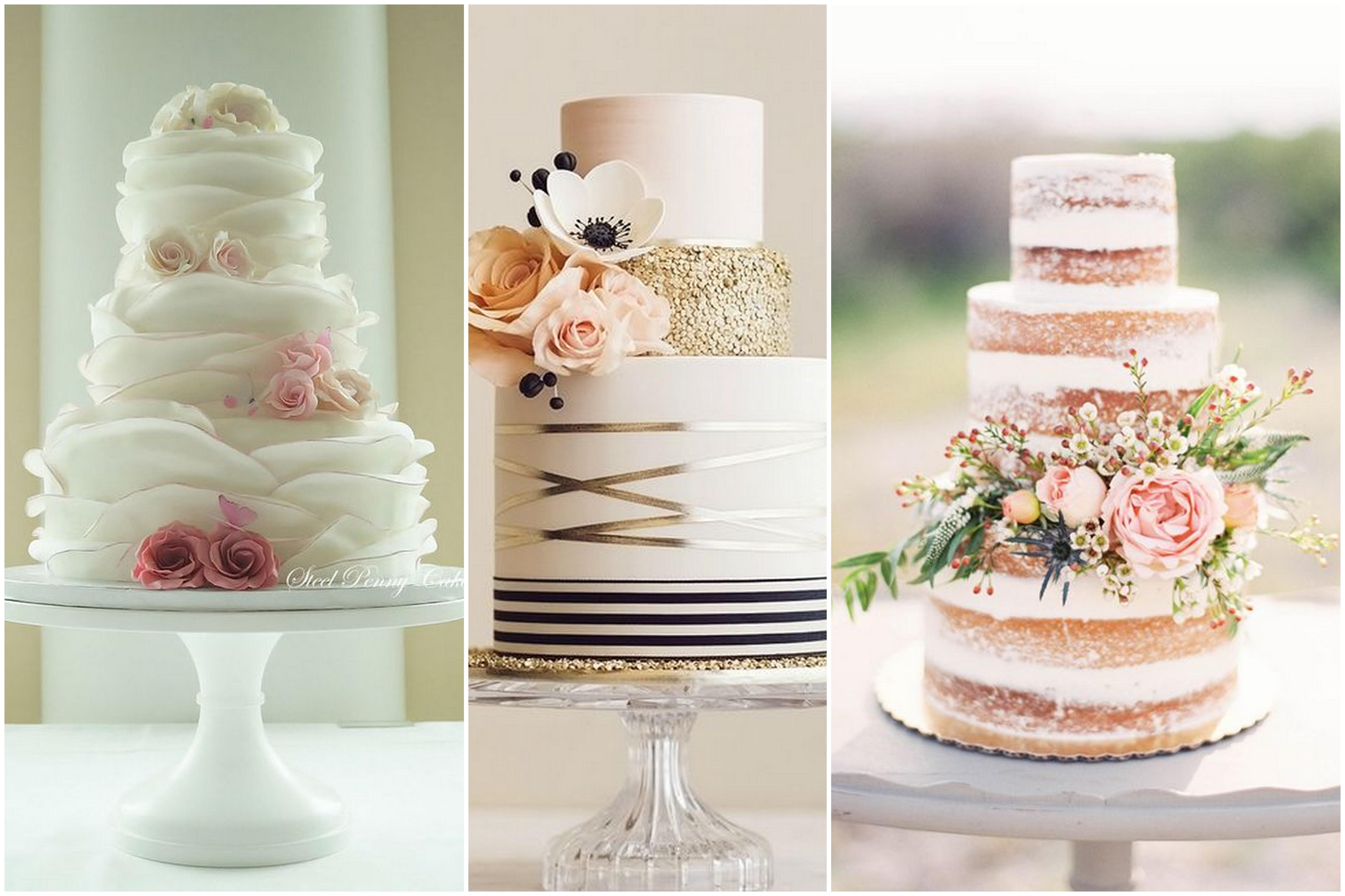 Torta nuziale a piani wedding cake colorato di pink for Piani di costruzione di appartamenti a 3 piani