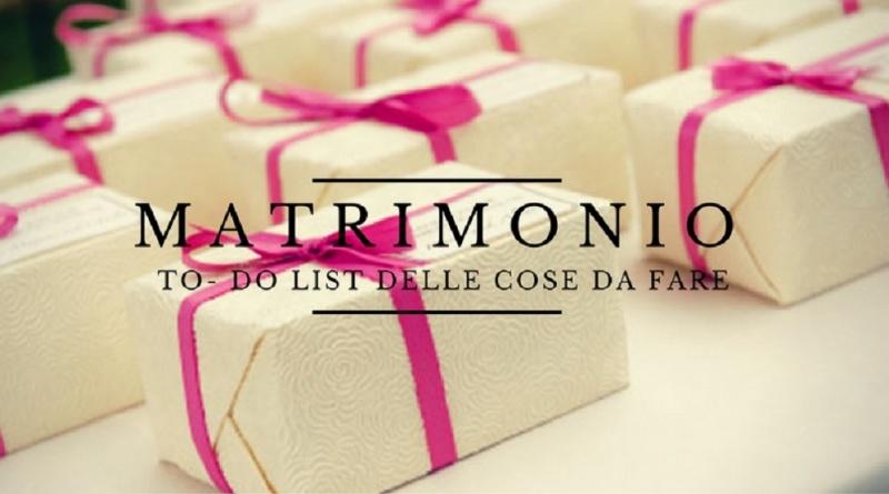 la lista delle cose da fare per il matrimonio