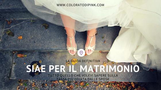 SIAE per matrimonio