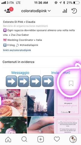 organizzare matrimonio usando instagram