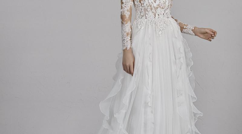 prova dell'abito da sposa pronovias