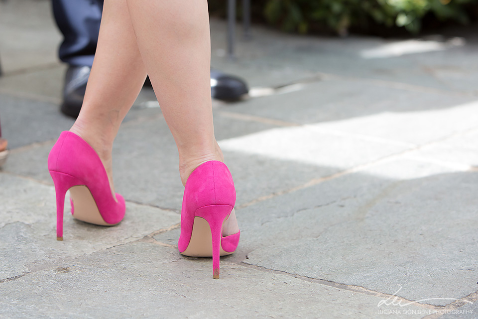 scarpe da sposa fucsia