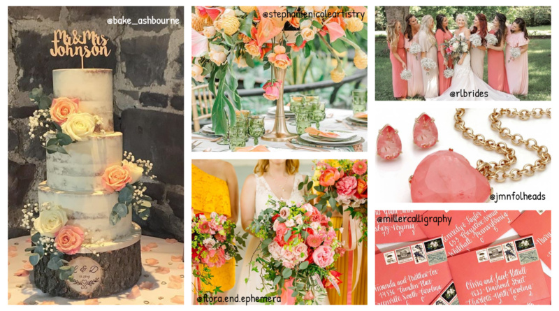 Wedding palette – Living Coral