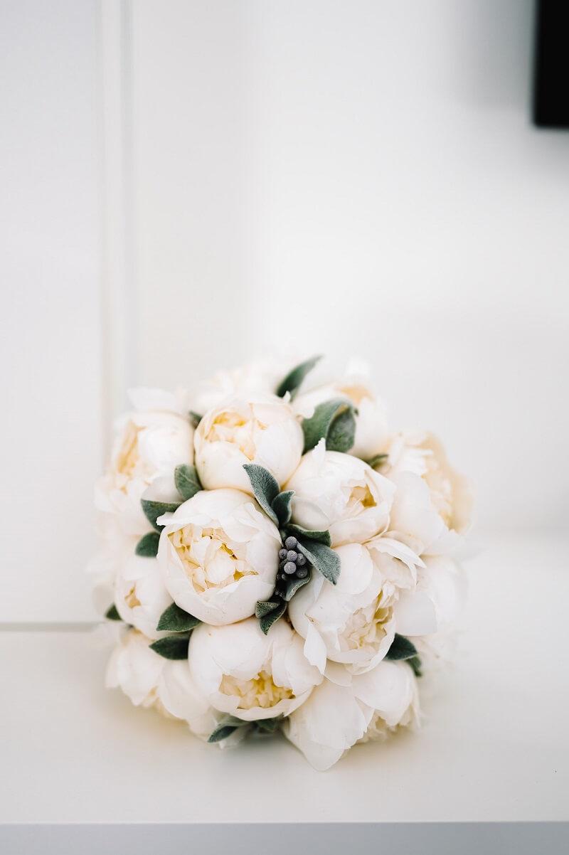 bouquet romantico di peonie