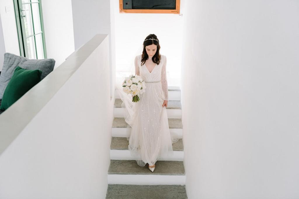 abito da sposa argento