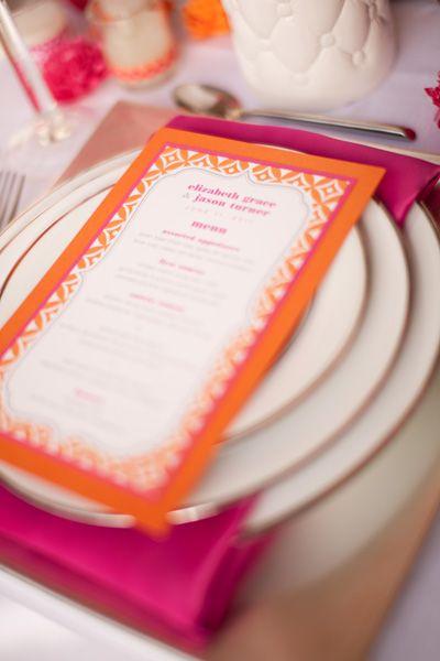 idee matrimonio tema rosa e arancione