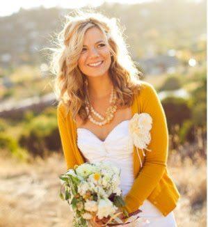 abito da sposa giallo