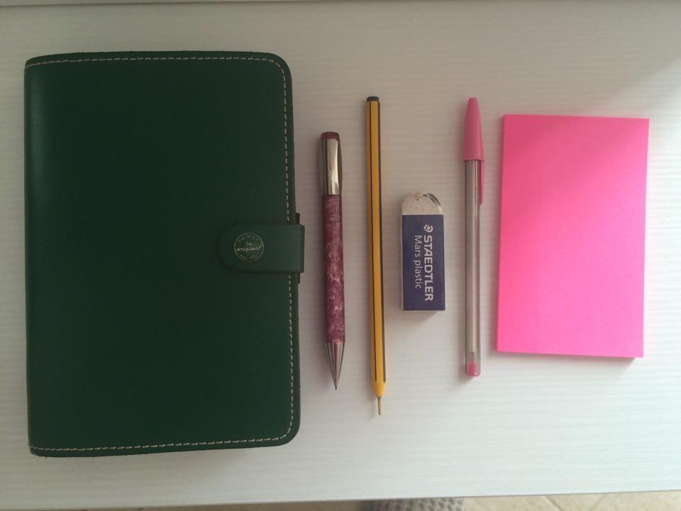 agenda filofax personal verde inglese