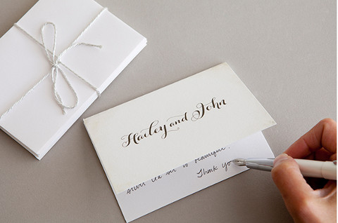 biglietto di ringraziamento per matrimonio