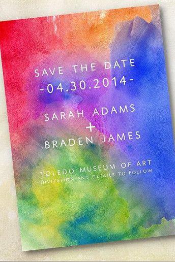 matrimonio a tema arcobaleno partecipazione rainbow