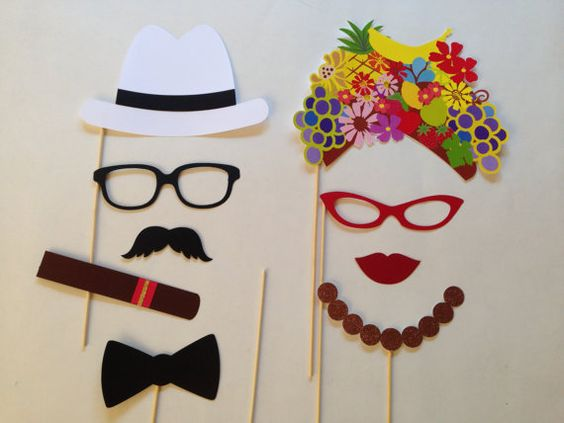 photobooth props tema tropicale