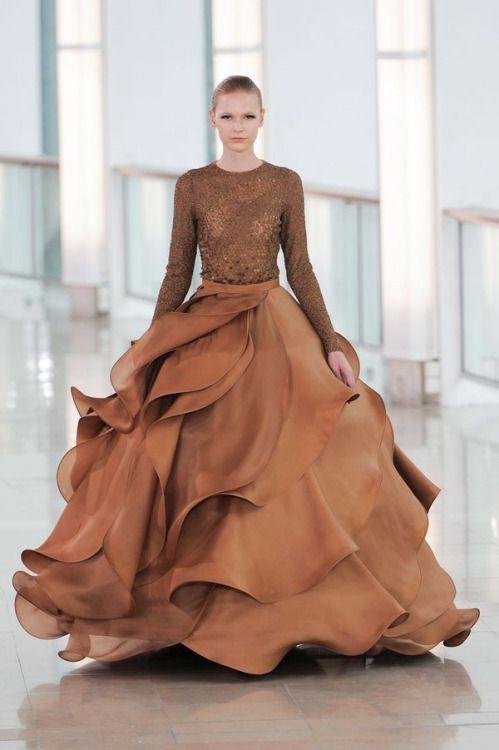 abito da sposa colorato cioccolato