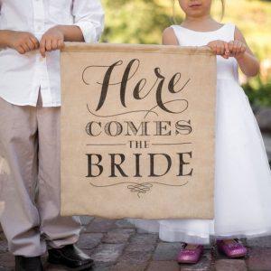 cartello arriva la sposa