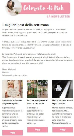 newsletter pink