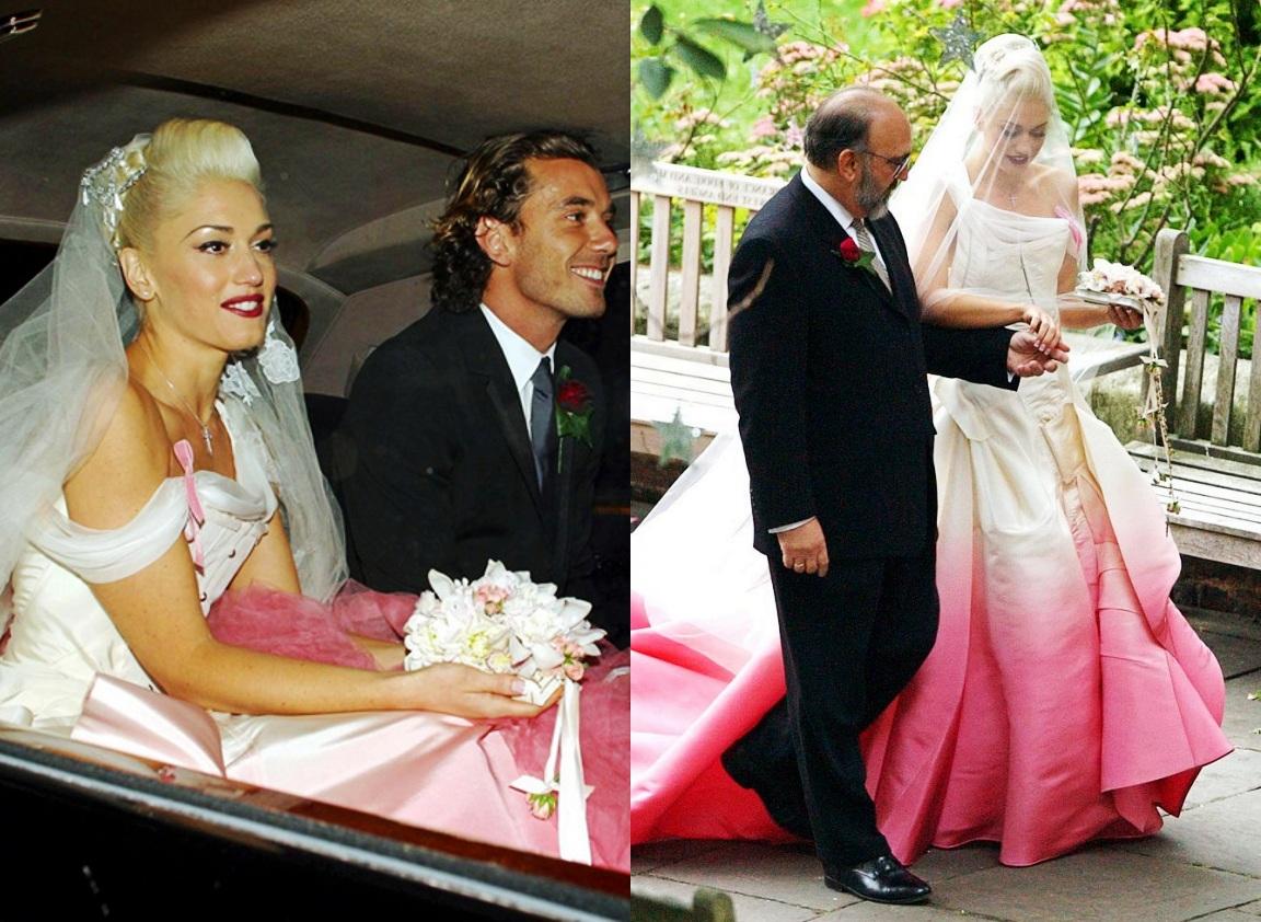 abito da sposa rosa degrade