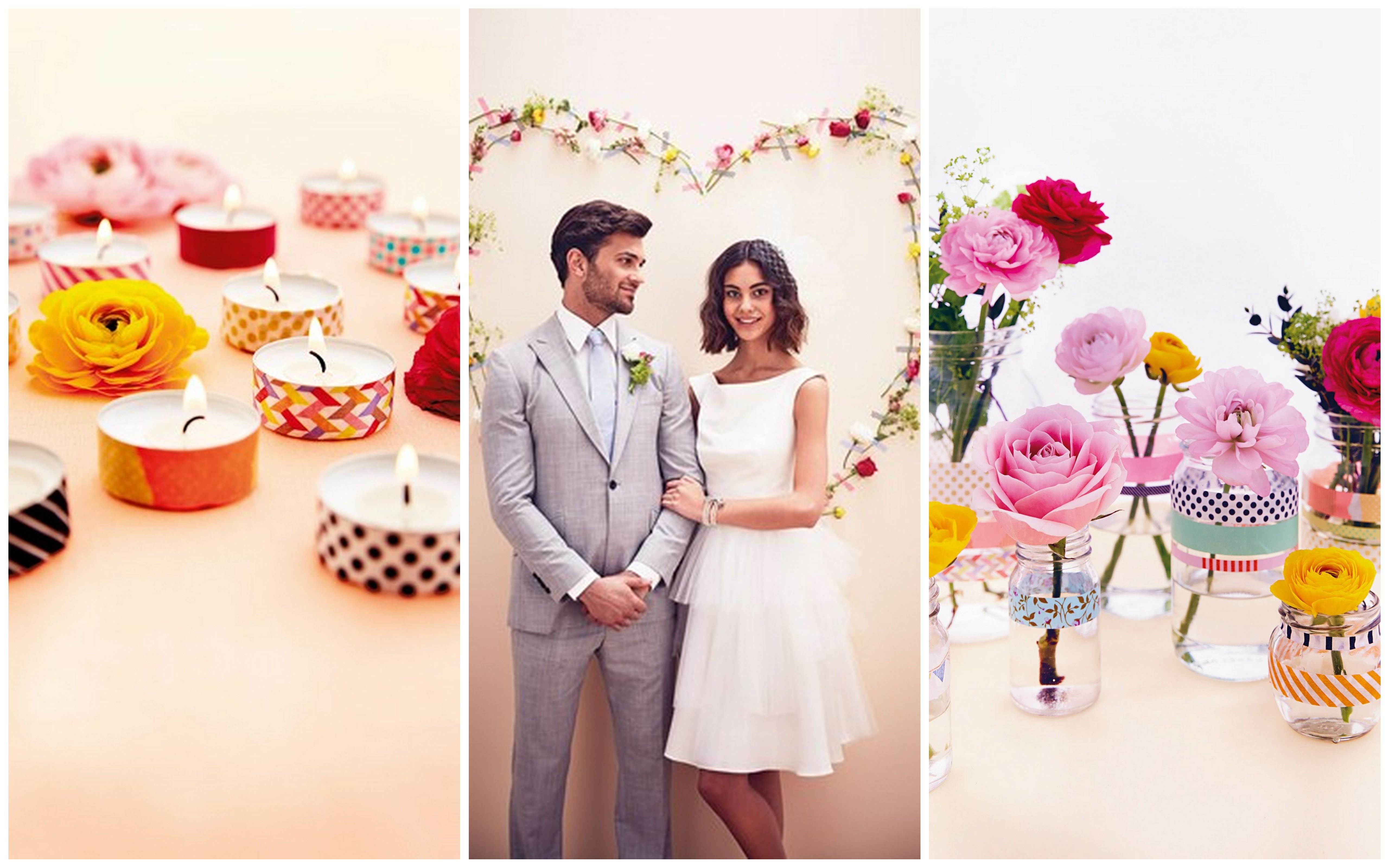 washi tape decorazione matrimonio