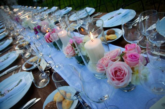 tavoli al matrimonio rettangolare