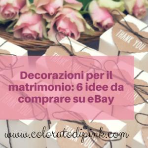 decorazioni per matrimonio